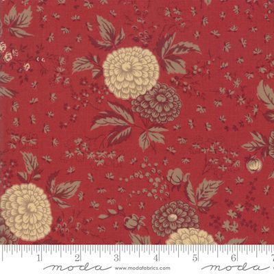 Moda Le Beau Papillon Red and Cream Floral