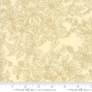Moda Poinsettias Gold Metallic