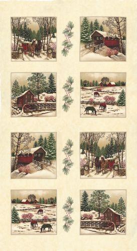 Moda Winter White Panel