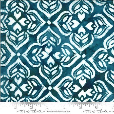 Moda Confection Batiks Mint/Blue Geometric