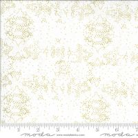 Moda Dwell White and Gold  Mottle