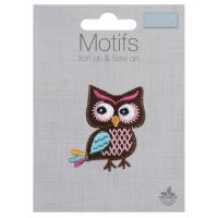 Embroidered Motif - Colourful Owl
