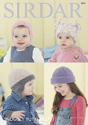 Sirdar Leaflet 4691 Baby Hats