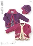 Sirdar Leaflet No 4407 Chunky Baby /Girls Cardigans