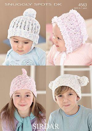 Sirdar leaflet No 4563 Baby Hats