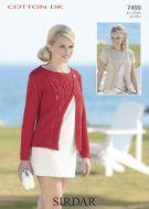 Sirdar Leaflet No 7499 Cotton DK Ladies Cardigan
