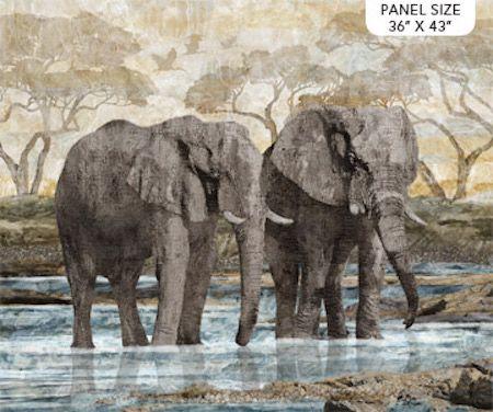 New Dawn Elephant  Panel