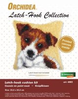 Latch Hook Kit: Cushion: Small - Jack Russell