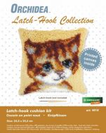 Latch Hook Kit: Cushion: Small - Cat