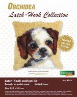 Latch Hook Kit: Cushion: Small - Dog