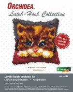 Latch Hook Kit: Cushion: Small - Kitten