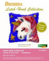 Latch Hook Kit: Cushion: Small - Unicorn