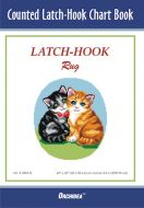 Latch Hook Chart: Two Kittens