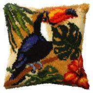 Latch Hook Kit: Cushion: Large: Toucan
