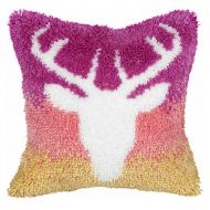 Latch Hook Kit: Cushion: Large: Stag