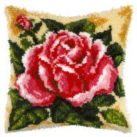 Latch Hook Kit: Cushion: Rose