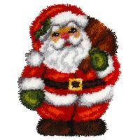 Latch Hook Kit: Cushion: Shaped: Santa