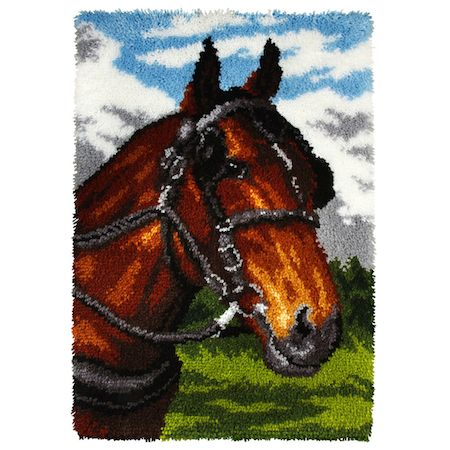 Latch Hook Kit: Rug: Horse