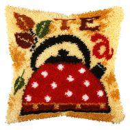 Latch Hook Kit: Cushion: Large: Tea