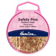 Safety Pins Value Pack - Brass 23mm