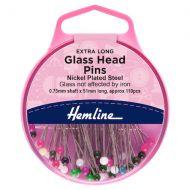 Glass Head Pins - Super Long - 51mm