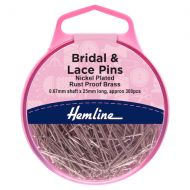 Bridal & Lace Pins - Nickel - 25mm