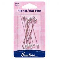 Florist / Hat Pins - Nickel - 65mm