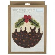 Punch Needle Hoop Kit - Christmas Pud