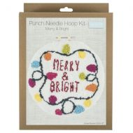 Punch Needle Hoop Kit - Merry & Bright