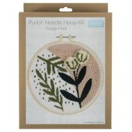 Punch Needle Hoop Kit - Foliage Floral