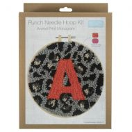 Punch Needle Hoop Kit - Animal Print Monogram