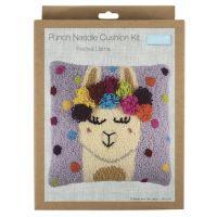 Punch Needle Kit - Cushion - Festival Llama