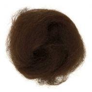 Wool Roving 10g Dark Brown