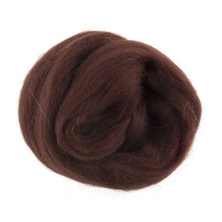 Wool Roving 10g Chocolate
