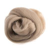 Wool Roving 10g Cream Beige