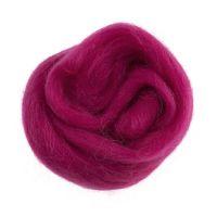 Wool Roving 10g Bright Pink