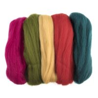 Wool Roving 50g Assorted Brights