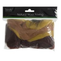 Wool Roving 50g Assorted Autumn Shades