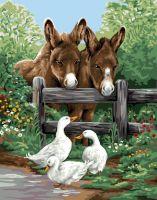 Canvas: Royal Paris: Donkey & Geese