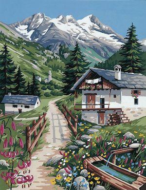 Canvas: Royal Paris: Mountain Pastures
