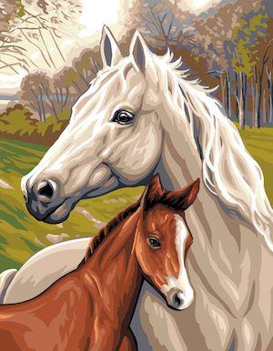 Canvas: Royal Paris: Horse & Foal