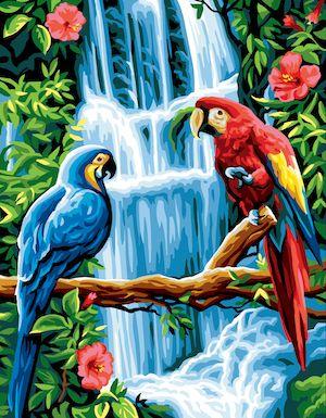 Canvas: Royal Paris: The Macaws