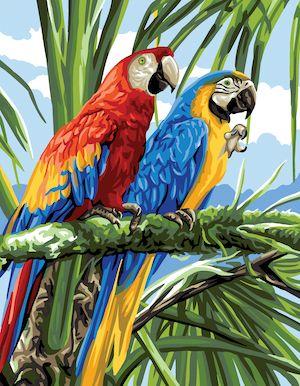 Canvas: Royal Paris: Macaws