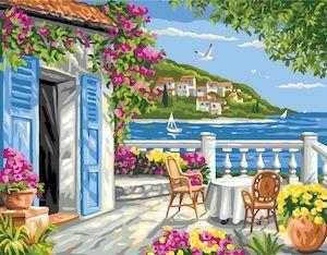 Canvas: Royal Paris: Garden Coast Scene