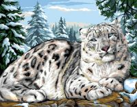 Canvas: Royal Paris: Snow Leopard