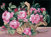 Canvas: Royal Paris: The Rose Basket