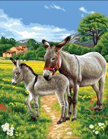 Canvas: Royal Paris: Donkeys