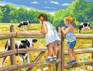 Canvas: Royal Paris: Children on a Fence