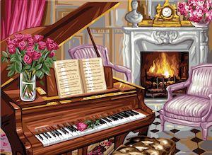 Canvas: Royal Paris: Piano Scene