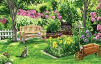 Canvas: Royal Paris: Side Garden